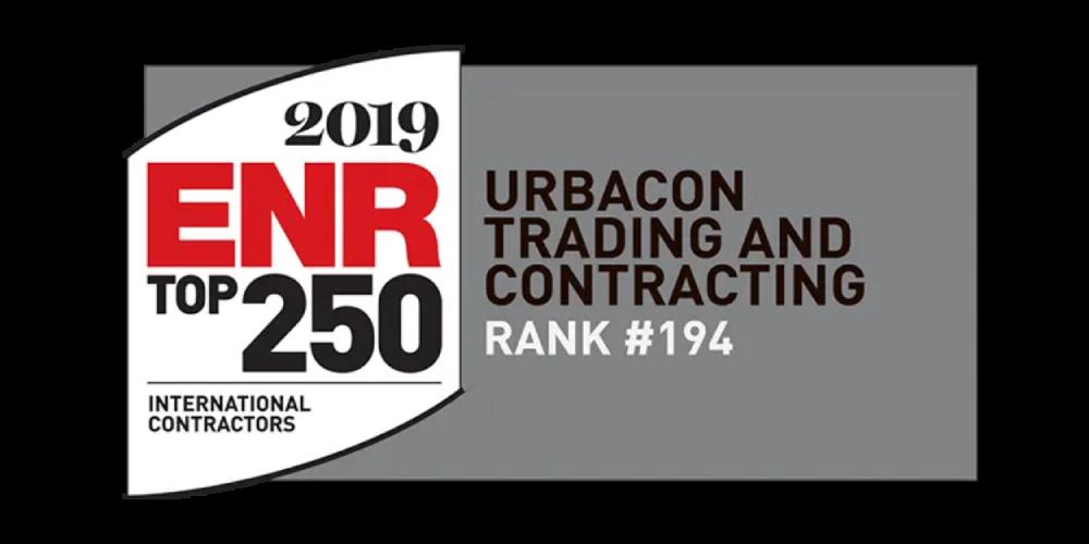 Rank #194, INTERNATIONAL CONTRACTORS – ENGINEERING NEWS REPORT 2019